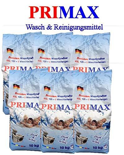 6 x 10 Kg Primax - Premium Waschpulver mit bunten Speckes. Keine Versandkosten!!!