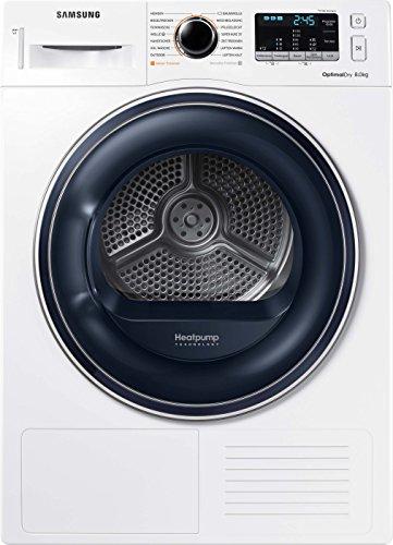 Samsung DV5000 DV81M50103W/EG Wärmepumpentrockner/A++/OptimalDry - Sensorgesteuertes Trocknen/Kondenswasserstandsanzeige - SchnellCheck/Komfort 2-in-1-Filter - 2
