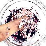 Lentejuelas ultrafinas con forma de conejo de 4 mm para manualidades, lentejuelas de PET para uñas, artes, manicura / boda, decoración navideña, confeti-YD Coral Pink
