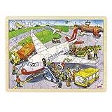 GOKI- Puzzles de maderaPuzzles de maderaGOKIPuzzle, al Aeropuerto, Multicolor (1)