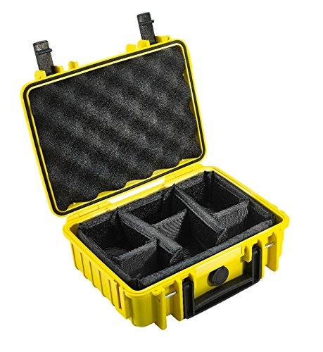 B&W International Type 1000 Outdoor - Maletín para cámara (con Divisor), Amarillo