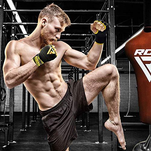 RDX Boxen Elastisch Innenhandschuhe Mma Boxbandagen Handschuhe Daumenschlaufe Abbildung 3