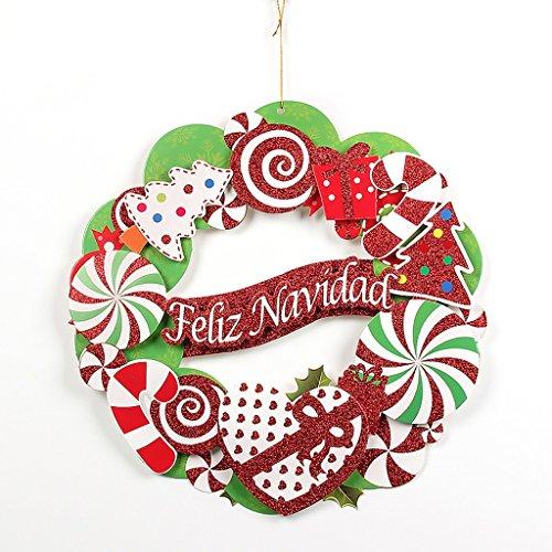 GYH Guirlande de Noël - Ornements de Noël Ornements de Guirlande de Noël Décorations de Noël Décoration de vitrine de Noël /& (Couleur : A)