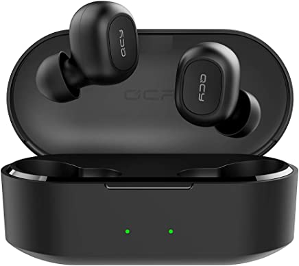 QCY T2S TWS w/Wireless Charging Case True Wireless Bluetooth Headset with Wireless Compartment BT5.0 Black Color