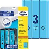 AVERY Zweckform L4753-20 Ordnerrücken Etiketten (mit ultragrip, 61 x 297 mm auf DIN A4, breit/lang,...