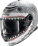 Shark NC Casco de Motociclismo, Hombre, Gris y Rojo, Small
