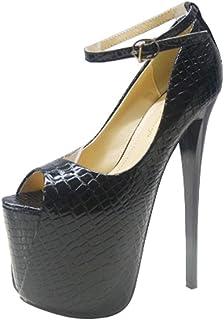 [山本道] 超ハイヒール約19cm オープントゥ パンプス オープントゥ サンダル モデル靴 パンプス ストラップ パンプス 黒 ハイヒール ピンヒール パンプス ピンヒールサンダル ピンヒール ストラップ ピンヒール 痛くない