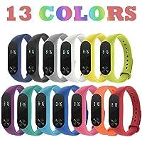 Acalder 13 Piezas Pulsera Xiaomi Mi Band 2 Correas Reloj Silicona Banda para XIAOMI Mi Band 2 Reemplazo - 13 Colores