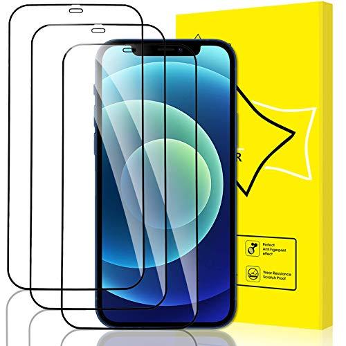 "GiiYoon-3 Piezas Protector de Pantalla para iPhone 12 Mini Cristal Templado,[Sin Burbujas] [Cobertura Completa] [9H Dureza] Vidrio Templado HD Protector Pantalla para iPhone 12 Mini (5.4"")"
