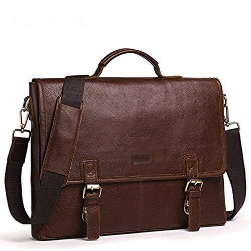 HEMFV Vintage Handmade Satchel Bag Leather Briefcase for Men and Women 15.6 inch Handmade Leather Messenger Bag for Laptop Satchel School Distressed Bag
