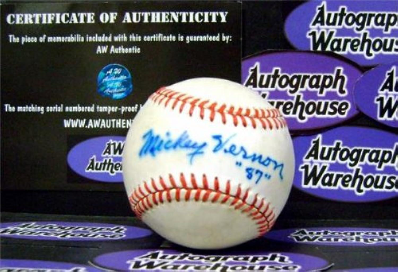 Mickey Vernon Signed Baseball  Sharpie Indians)  Autographed Baseballs