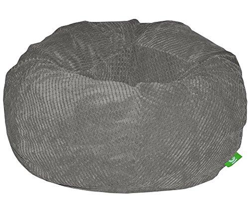 MONSTER BEANBAG - DA VINCI CORD Designer Chair Giant Big Bean Adult Bag Bags Seat (Grey)