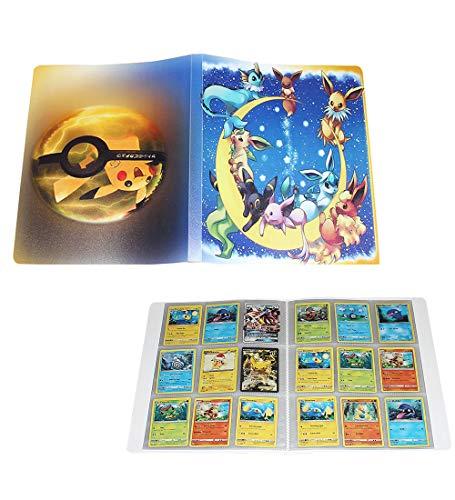 UHIPPO Porta Carte collezionabili per Carte Pokemon Raccoglitore, 120 copertine, Album di Carte Libro Best Protection Ex Box (Pikachu Deluxe Edition) B