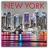 "Graphique New York Glitz Wall Calendar, 16-Month 2021 Wall Calendar with Historic American Landmark Photographs, 3 Languages & Major Holidays, 2021 Calendar, 12"" x 12"""