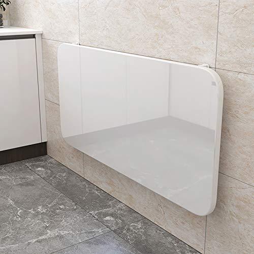 Garage Waschküche Schlafzimmer Küche Büro Wandklapptisch Computertisch Esstisch Werkbank, MDF + Hochleistungshalterung, Weiß, 23 Größen