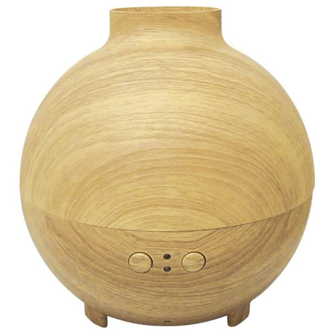 マトロン花瓶ほこりブレイン  木目調加湿器アロマデュフューザー 「Kardia(カルディア)」