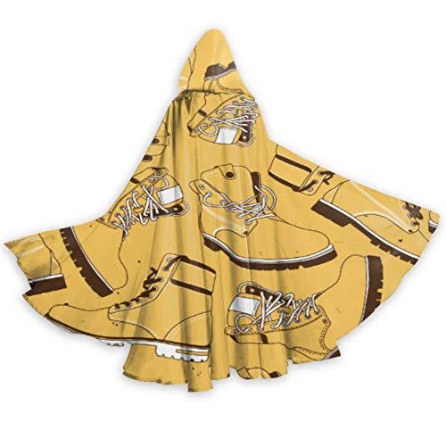 ALALAL Guapas y Frescas Botas Militares de Moda para nias, Capa con Capucha, Vestido para nias, Capa de 59 Pulgadas para Navidad, Disfraces de Cosplay de Halloween