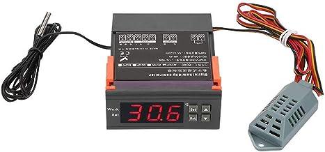 Controlador Digital de Humedad de Aire Wh8040 Rango 1% -99% HR Hm-40 Sensor de Alta Precisión Ca 220 V para Humidificador deshumidificador con Sensor de Temperatura Sonda
