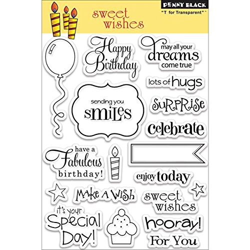 Penny Black PB30104 Sweet Wishes Clear Stamp