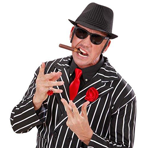 NET TOYS King of Blues Lunettes Blues Brothers Gangster Lunettes de Gangster Lunettes de Soleil Mafia Lunettes pour déguisement Lunettes de Carnaval Costume Accessoire