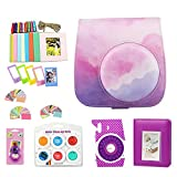 WOGOZAN Camera Case for Fujifilm Instax Mini 9 8 Camera Accessories Bundle Includes Photo Albums,Color Filter, Selfie Lens,Wall Hanging Frames& Others (Bundle, Dream Cloud)