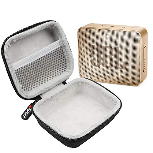 JBL GO 2 IPX7 Waterproof Ultra Portable Bluetooth Speaker Bundle with gSport Deluxe Hardshell Case (Champagne)