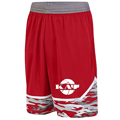 Kappa Alpha Psi Camo Game Day Basketball Short X-Large Red/Graphite/White
