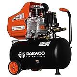 Daewoo DAC24D Compresor eléctrico, 220 V, Negro/Naranja, 2 HP, 195 L/min,...