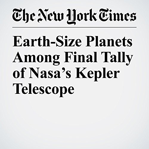 Earth-Size Planets Among Final Tally of Nasa's Kepler Telescope copertina
