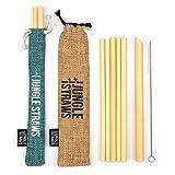 Jungle Straws Pajitas de Bambú | Pack 12 Pajitas Reutilizables | Pajitas Biodegradables Ecologica...