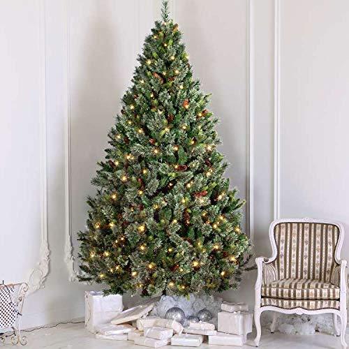 OasisCraft 6.5FT Christmas Tree - Pre-lit Artificial Christmas Tree, Carolina Pine Tree with 550 Light (6.5FT)