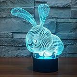 3D Led Illusionslampe Nachtlicht, Easehome Optischer Nachttisch Nachtlichter Beleuchtete Lampe Für...