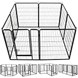 YAHEETECH 40-Inch 8 Panel Heavy Duty Pets Playpen Dog Exercise Pen Cat Fence with Door...