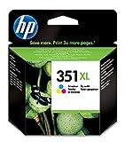 HP 351XL CB338EE, Tricolor, Cartucho de Tinta de Alta Capacidad Original, compatible con impresoras de inyección de tinta HP Deskjet D4260, D4300, Photosmart C5280, C4200, Officejet J5780, J5730