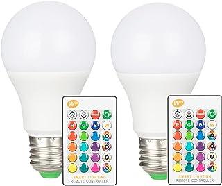 Haian Support LED電球 E26口金 40W形相当 6W 500lm RGBW 調光調色 RGB 昼光色 省エネ マルチカラー 16色選択可 リモコン付き 装飾 照明 普段照明 記憶機能 2個入り