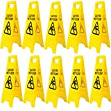 (Pack of 10) Wet floor Sign 'A' Frame Safety Signs