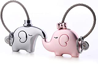 MILESI Original Fantastic Kissing Elephants Couples Keychains Valentine's Gift Christmas Present