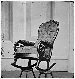 HistoricalFindings Photo: Rocking Chair Used,President Abraham Lincoln,Ford's Theater,Washington DC,1865