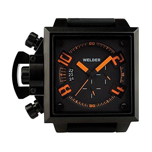 Cofanetto orologio Welder Uomo K-25modello Cronografo Nero e Arancione–4305/1747K25–in Promo