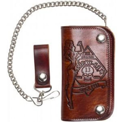 No Riders Embossed Chain Wallet