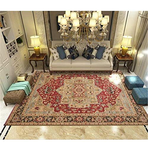 GUO-YANGH Carpet, Floor Mat, Coffee Table Floor Mat, Living Room, Bedroom, Corridor Carpet-Chic Y Fresco Baby Room Rug Rojo 50×80cm/19.7×31.5inch