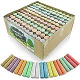 Sidewalk Chalk Set – Pack de 120 tizas multicolor Jumbo Street – 10 colores brillantes y alegres – no tóxico, lavable, Tizas cónicas para profesores y escuelas – 1 x 4 pulgadas