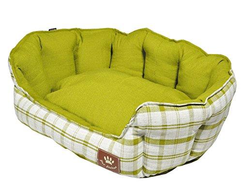 Vadigran Panier pour Chien Style Checker Vert 86 x 70 cm