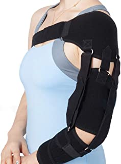Enshey Shoulder Brace Support Correct Belt -Compression Pad Sleeve for Right or Left Upper Arm & Shoulder Support with Adjustable Straps for Stroke Hemiplegia Subluxation Recovery
