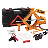BEETRO Electric Car Jack 3 Ton, 12V Electric Floor Jack for Emergent Tire Change & Replacement