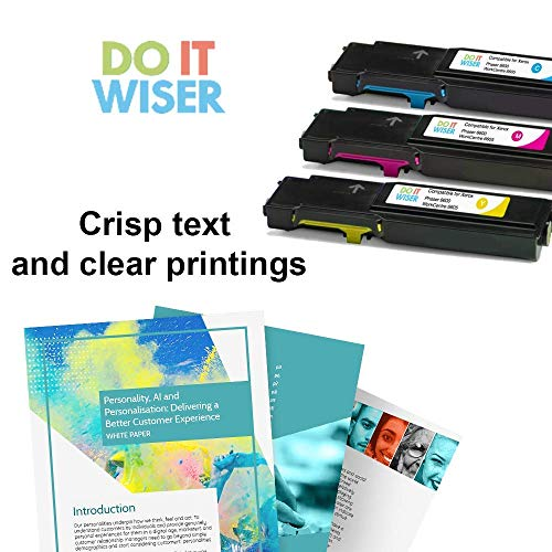 Do it Wiser Compatible Toner Cartridge Replacement for Xerox Phaser 6600, 6600n, 6600dn, 6600ydn | WorkCentre 6605, 6605n, 6605dn High Yield - 106R02227 - Yellow - 6,000 Pages Photo #5