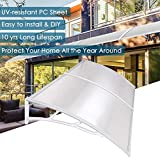 Yescom 79x40' Outdoor Door Window Awning Canopy 2 Whole Hollow Polycarbonate Sheets Patio Cover