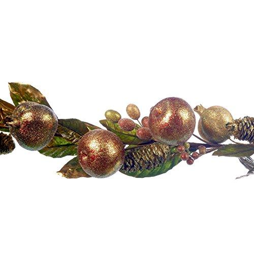 Goodwill?: Apple et de No?l Pommes de pin Guirlande de Bordeaux 150?cm