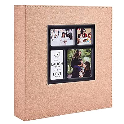 Ywlake Photo Album 4x6 600 Pockets Photos Linen Cover, Extra Large Capacity Family Wedding Picture Albums Holds 600 Horizontal and Vertical Photos Beige Gray