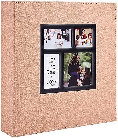 Ywlake Photo Album 4x6 600 Pockets Photos Linen Cover Extra Large Capacity Family Wedding Picture product image